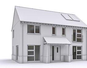 3D model VR / AR ready Townhouse 09