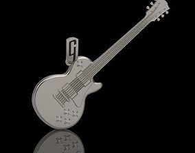 Pendant guitar gibson with diamonds 3D print model