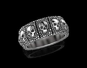 Skulls ring 3D printable model