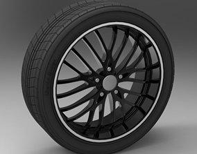 3D model Wheel rim ADVANTI SG79 and tire