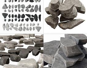 3D model arch Rock stone plate splinter n1