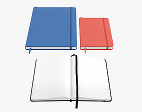 3D Notebooks hardcover with strap open close
