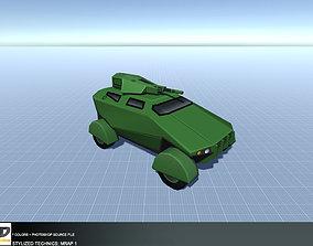 3D model low-poly Stylized Technics - MRAP 1