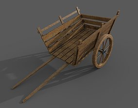3D model carriage vintage low poly