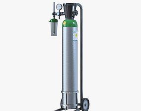 3D Medical Oxygen Cylinder