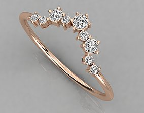 jewelry light Women solitaire ring 3dm render detail