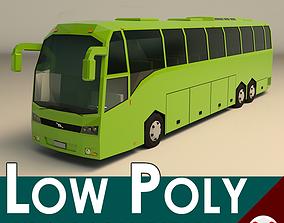 Low Poly Coach Bus 01 3D model