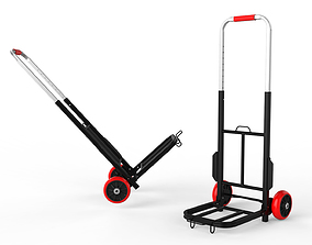 Cart Storage Red 3D model