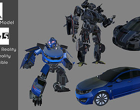 Transformer Car to Robot with Animation Low animated 3