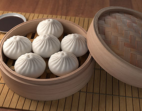 3D model Steamed Bun Baozi