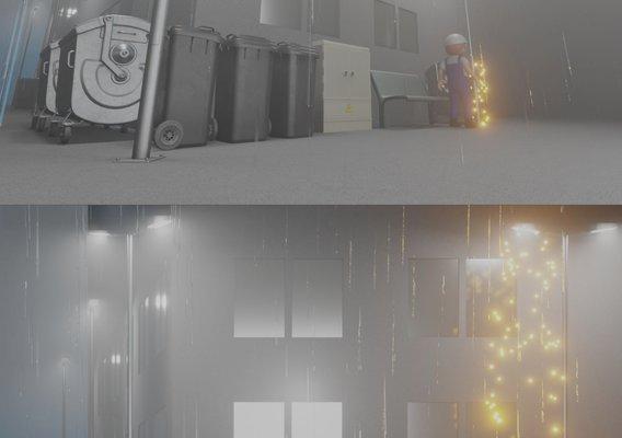 Broken Streetlight (Render scene  made with Blender-2.90.1 Eevee)