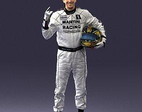 Male race car driver 0268 3D