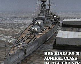 3D HMS Hood for Poser