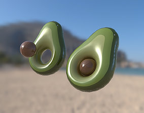 Inflatable water or pool toy Avocado 3D model