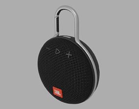 3D model realtime Portable speaker Clip 3