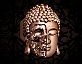 yoga Buddha skull ring 3D print model