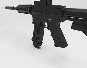 3D M4A1 Gun shooting