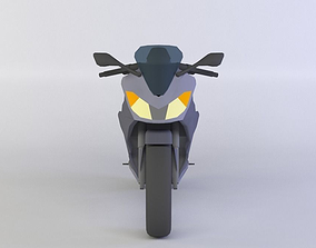 VR / AR ready Generic Sport Motorcycle 3D Model