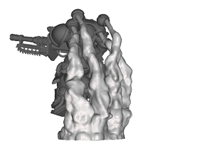 Primaris Suppressors Exhaust Smoke Stand 3D print model