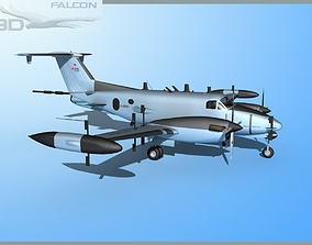 RC-12P Guardrail 3 US Army 3D