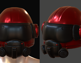 realtime Helmet scifi military combat 3d futuristic