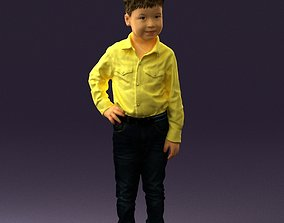 Boy in yellow tshirt 0664 3D Print Ready