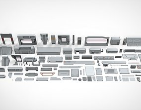 3D Sci-Fi architecture Elements collection 22 tube