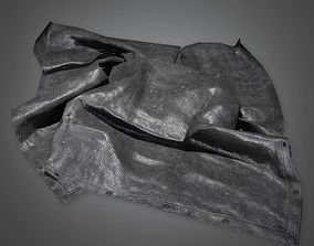 Black Tarp Set TLS - PBR Game Ready 3D asset