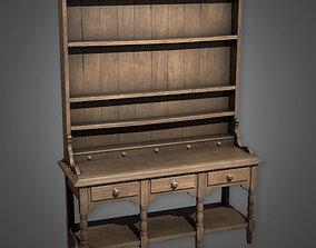 3D model ATT - Old Wooden Shelf Antiques 06 - PBR Game