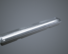 3D model Fluorescent Light Strip