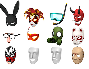 chinese Mask Pack 3D model
