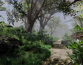 3D model Forest path Scene