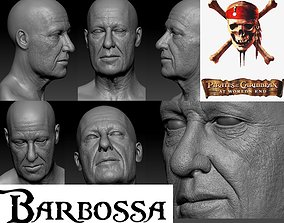 Barbossa head model obj and ztool and displacement maps