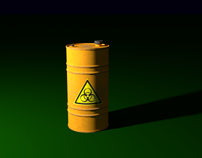 3D asset game-ready oil tank industrial