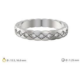 3D printable model N074 wedding ring mini with gems