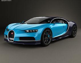 3D Bugatti Chiron 2017 2019
