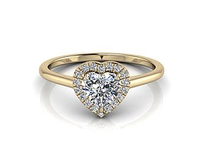 3D print model Heart Engagment Jewelry Ring 2