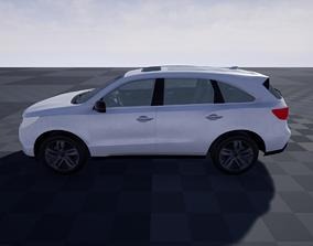 Hybrid Van PBR Game Ready Lowpoly 3D asset