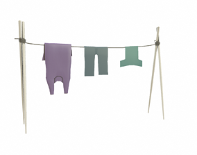 clothes line 3D model