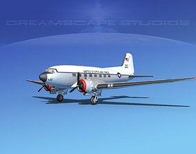 Douglas C-47 Dakota USAF V08 3D