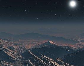 Inhospitable planet in Vue 3D model