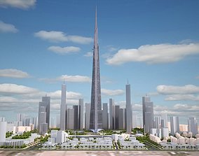 Kingdom Tower Yeddah Burj al-Mamlakah 3D