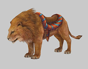 Lion Rigged Animated 3D model
