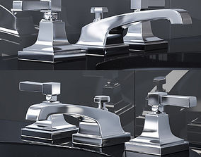 DILLON 8in WIDESPREAD FAUCET 3D model