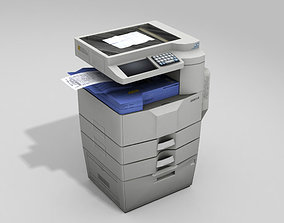 Photocopy Machine 3D asset low-poly