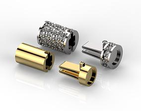 Lock bracelet clasp 3D print model