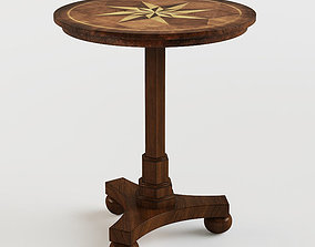 3D Masterpiece Antique Cherry Accent Table