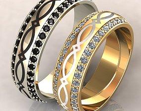 jewellery gold Wedding Ring 3D print model