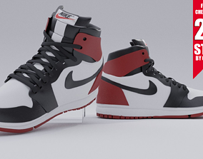 NIKE AIR JORDAN 1 - JORDAN RETRO RED 3D