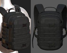 Backpack military combat Black baggage bag 3D model